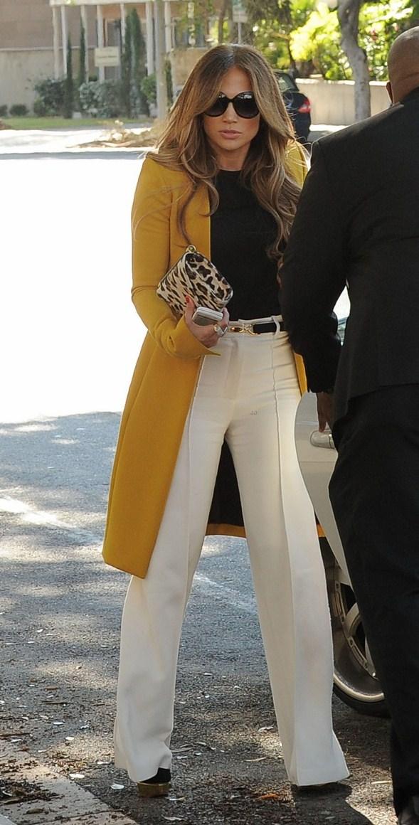 American Idol judge, Jennifer Lopez arrives to American Idol auditions.