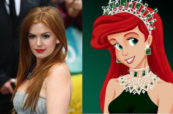 resemblance to Disney characters in celebrities
